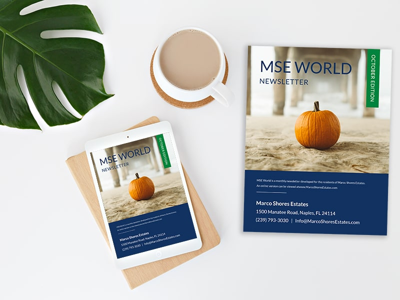 MSE World Marco Shores Estates Monthly Newsletter