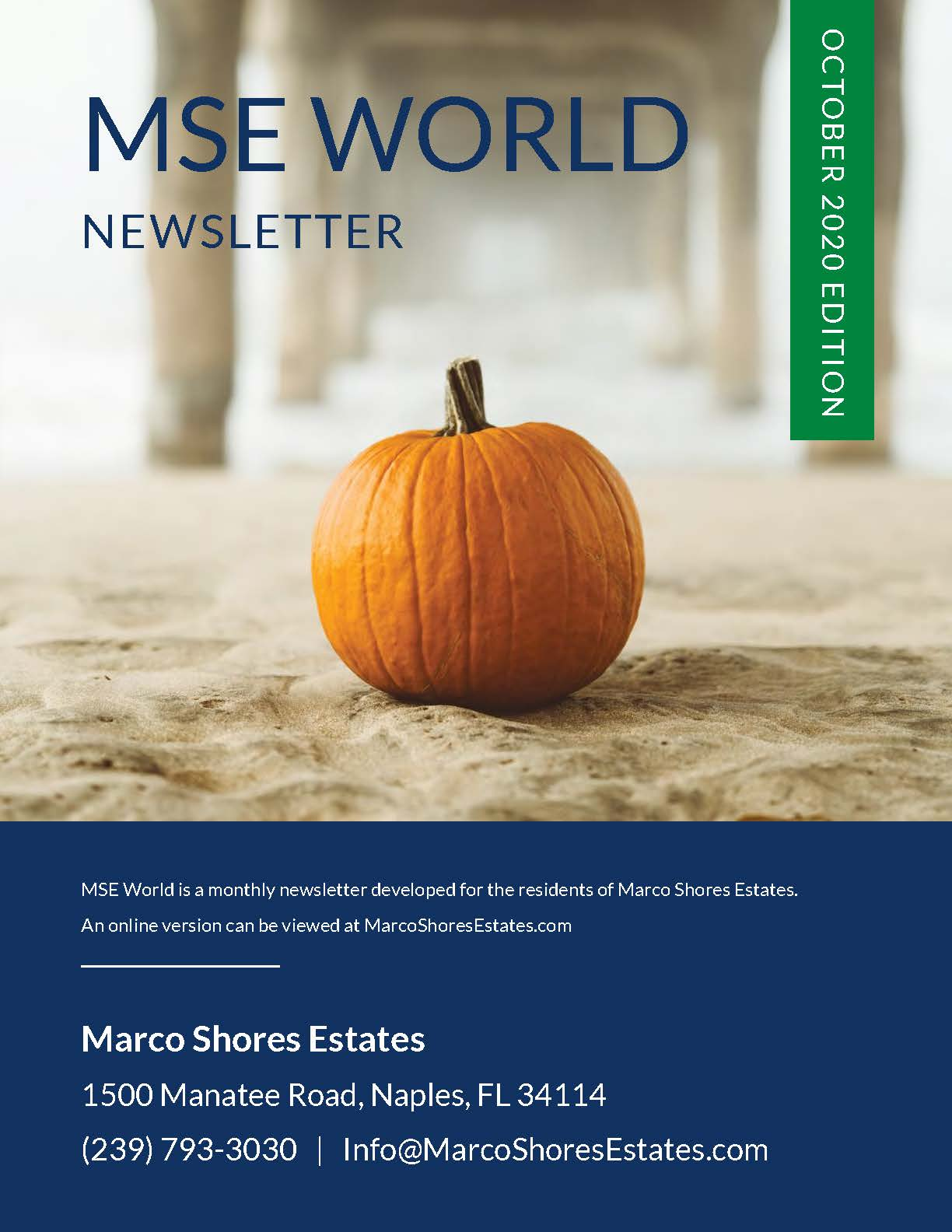 Marco Shores Estates - Active 55+ Community - MSE World October Edition