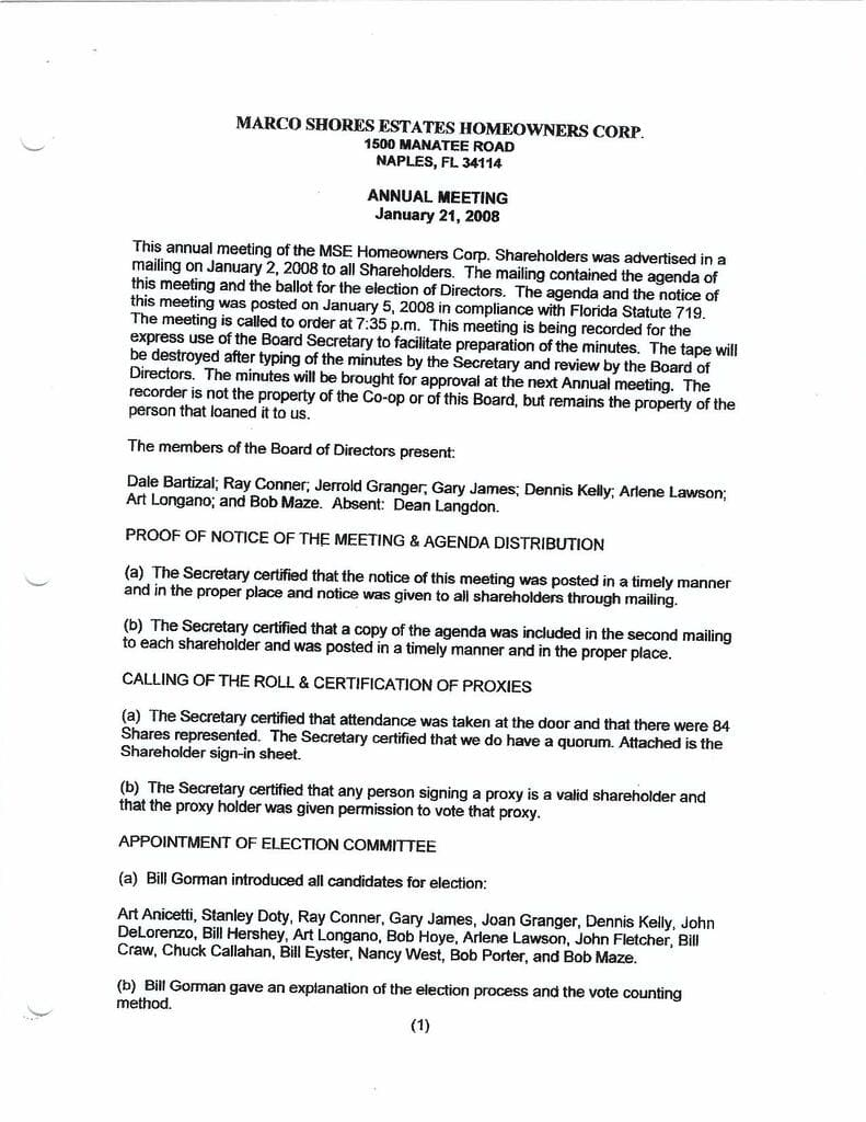 Board Minutes 1-21-2008 Annual Page 1 Compressed
