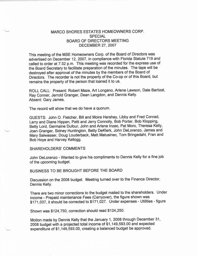 Board Minutes 12-27-2007 Special Page 1- compressed