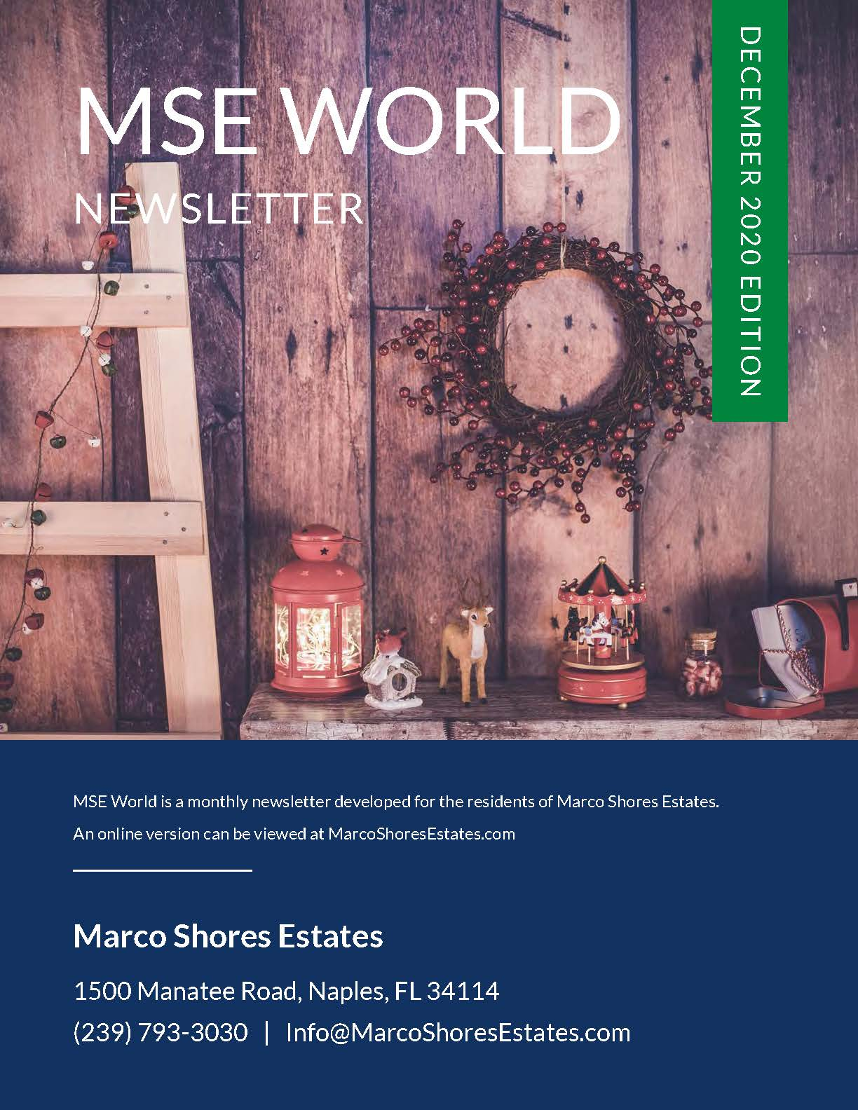 Marco Shores Estates World Newsletter December 2020 Edition