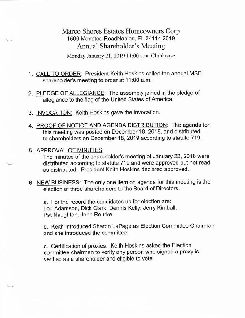 Minutes 1-21-2019 Annual Page 1-Compressed