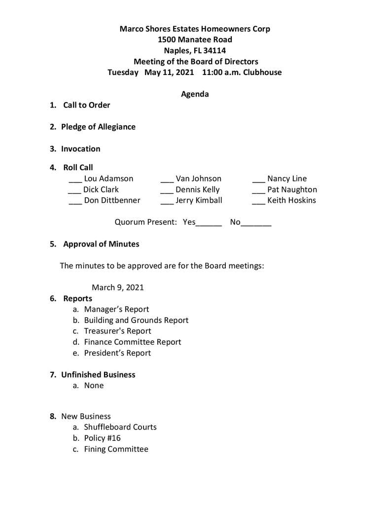 May 11, 2021 Agenda-page 1 Compressed